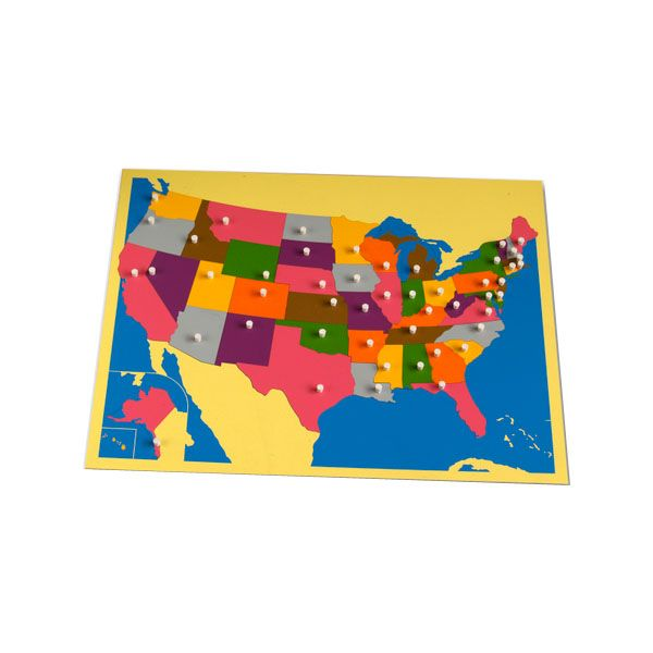 Labeled And Unlabeled Mapsgreat For Geography Schoolin It - Us puzzle map owl mouse