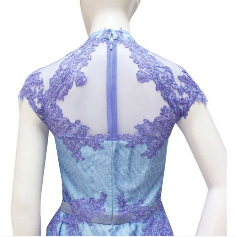 The back details of Wisteria Lilac Wendy Qibao.