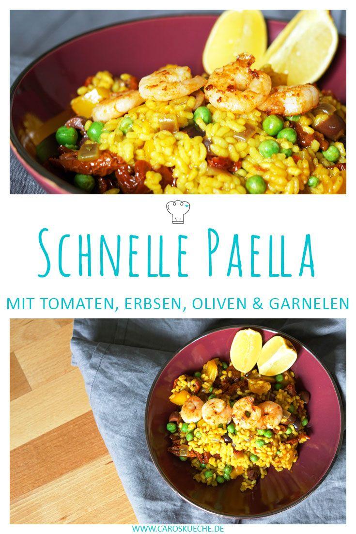 schnelle paella mit garnelen rezept mit bildern