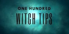 """wyntercraft: """" 100 Witch Tips • Listening to your own intuition will always be useful. Learn to trust it. • Put almonds in your pockets for good luck. • Lemongrass essential oil kills fruit flies. •..."""