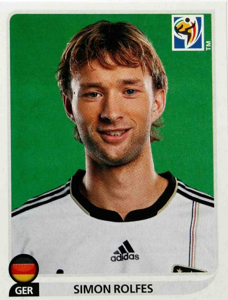 Simon Rolfes of Germany. 2010 World Cup Finals card.