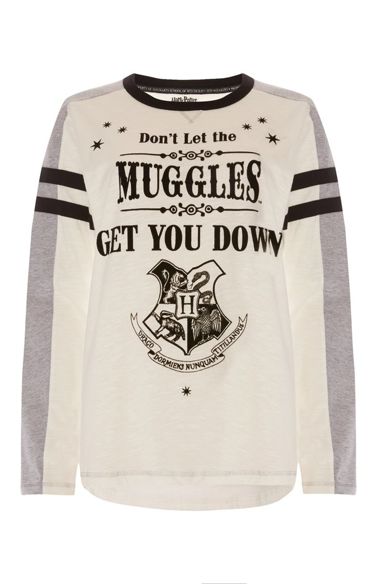 Primark - White Harry Potter Muggles Top