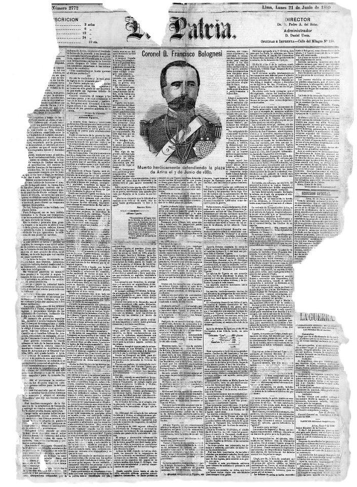 Kaleidoscopio de Historia: Como informaron los diarios el resultado de la batalla de Arica