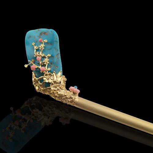 비녀 - 고품격 수공예 주얼리 민휘아트주얼리 - Hairpin - Luxurious artifical jewelry; MINWHEE ART JEWELRY
