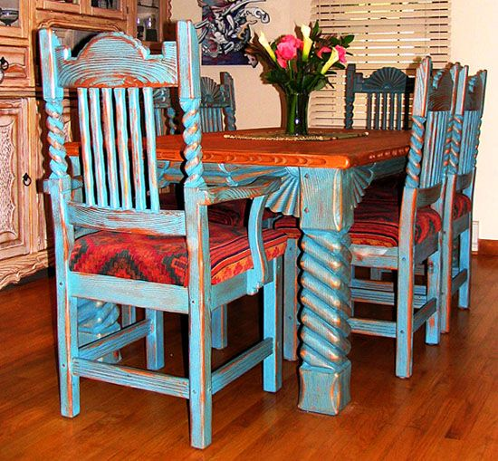 Great Southwest Dining Set Quot Sutherland Quot Rustic Dining
