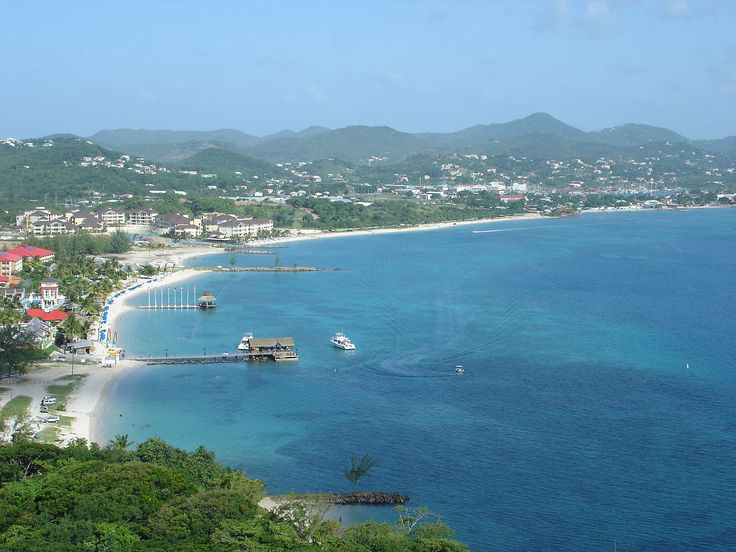 Gros Islet and Rodney Bay as seen from Pigeon Island - Saint Lucia - Wikipedia