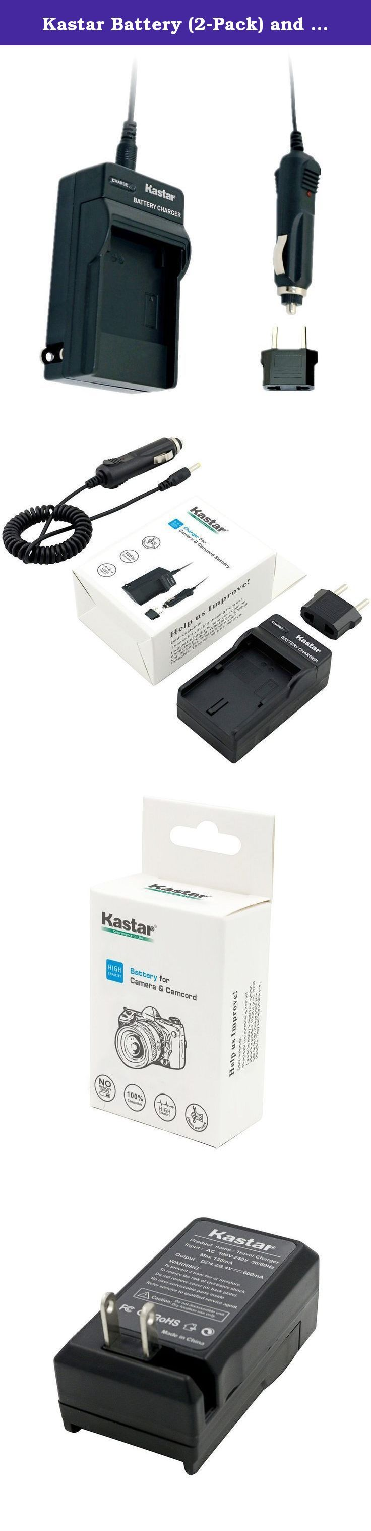 Kastar Battery (2-Pack) and Charger Kit for Canon LP-E10, LC-E10 work with Canon EOS Rebel T5, EOS Rebel T3, EOS Kiss X50, EOS Kiss X70, EOS 1200D, EOS 1100D DSLR Cameras. Package Includes: 2 x Canon LP-E10 Battery 1 x Travel Charger 1 x Car Charger 1 x European Plug Battery Compatible: Canon LP-E10 Charger Compatible: Canon LC-E10 Compatible with the following models: Canon EOS 1100D Canon EOS 1200D Canon EOS Rebel T3 Canon EOS Rebel T5 Canon EOS Kiss X50 Canon EOS Kiss X70.