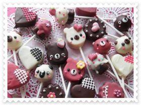 「【バレンタイン】ラブリーケーキポップス」さおりん | お菓子・パンのレシピや作り方【corecle*コレクル】