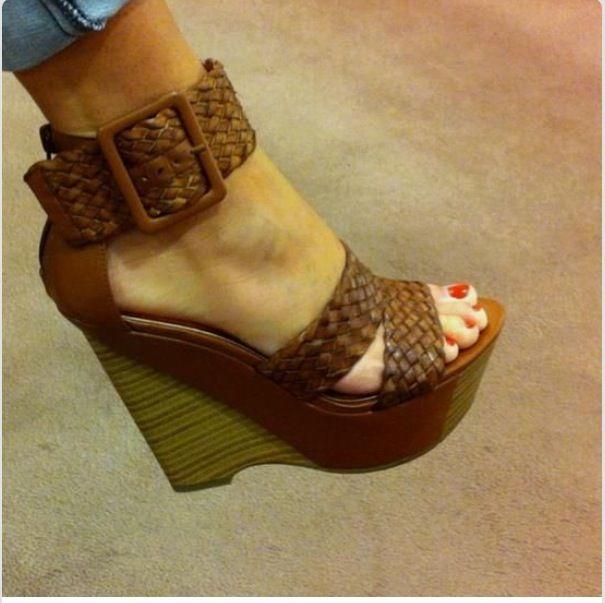 Dark Brown Wedge Heels | Tsaa Heel