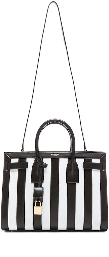 SAINT LAURENT Small Sac Du Jour Striped Carryall Bag LOOKandLOVEwithLOLO: Fabulous designer Shoes and bags!