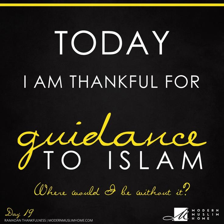 Alhamdulillah for Islam :)