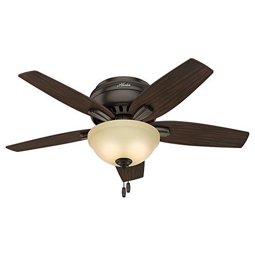 """Hunter 51081 Newsome Ceiling Fan with Light, 42""""/Small, Premier Bronze    Hunter Outdoor Ceiling Fans  Ceiling Fan Sale  Ceiling Fans For Sale  Decorative Ceiling Fans  Ceiling Hugger Fans  Bathroom Ceiling Fans  Fan Ceiling  Unique Ceiling Fans  Fancy Ceiling Fans"""