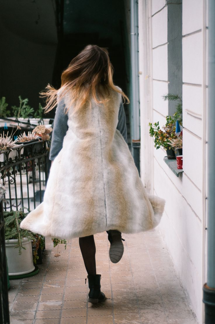 Grétka is wearing a reversible wool & cashmere / faux fur coat, that will be a part of the new collection. Shop here: http://meandm.bigcartel.com/