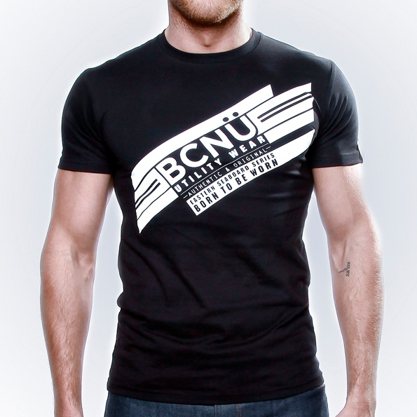 Bron-TEE Black  Proudly designed in Australia. The Bron-TEE is a favourite each season. A classic UtiliTEE made from 100% cotton jersey, it's loose fitting and a real stand out. www.bcnuclothing.com