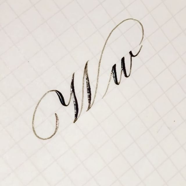 63 Best Calligraphy The Letter W Images On Pinterest
