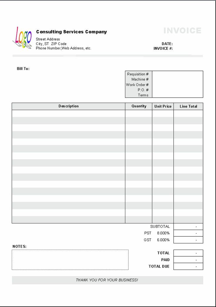 17 best images about invoice on pinterest | cars, letter sample, Invoice templates