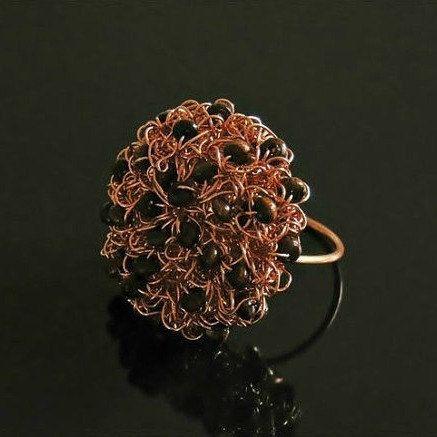 Draad haak ring draad haak sieraden koperen ringen door styledonna