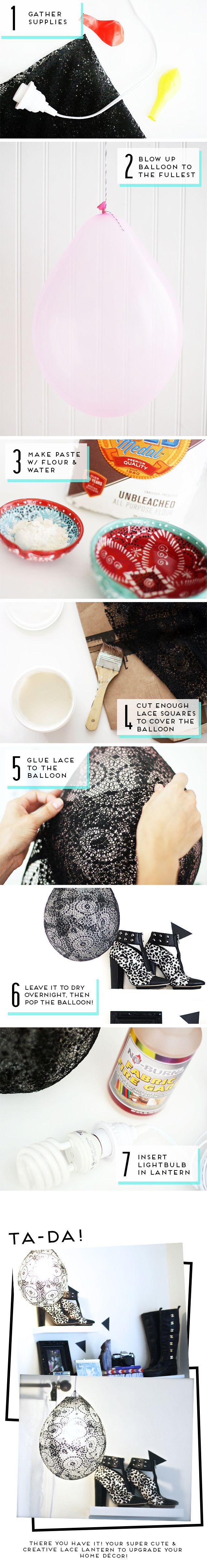 All new #DIY up on the #F21Blog now! Check it out! #Lace #Lantern