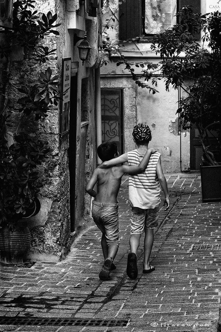 Friends in Hania, Crete, Greece