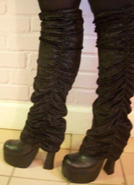 #STEVIENICKS inspired gathered velvet legwarmers, great ...