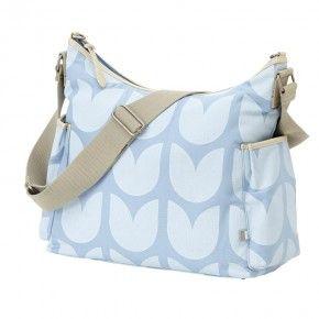 OiOi Blue Tulip Hobo Nappy Bag