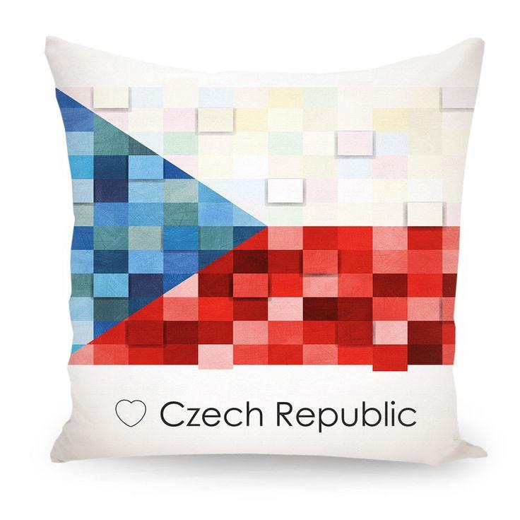 Pillow Czech Republic flag, Europe