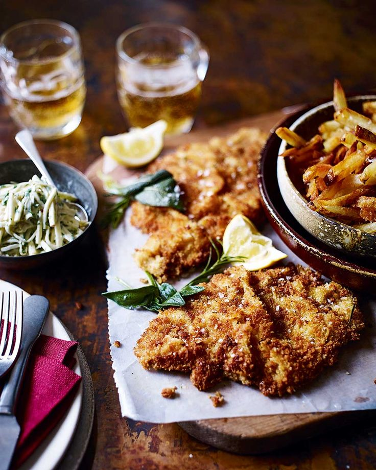 These veal schnitzels are tender, oh-so moreish and best served with fries. Ready to eat in 30 minutes they are perfect for a decadent midweek dinner or a cosy Saturday night in.