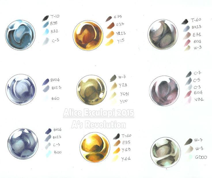 Copic Italia: Metalli: color chart!