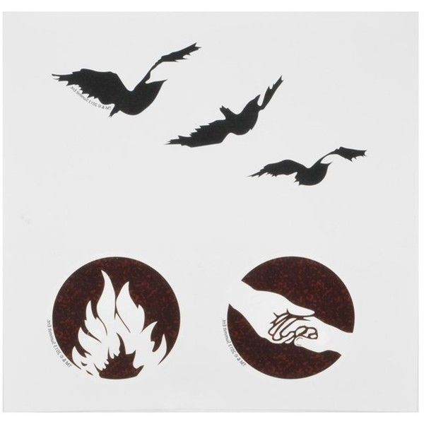 """NECA Divergent """"Tris's Tattoos"""" Temporary Tattoo Set (66 CAD) ❤ liked on Polyvore featuring accessories, body art, divergent and tattoos"""
