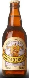Cerveja Grimbergen Tripel, estilo Belgian Tripel, produzida por Alken-Maes, Bélgica. 9% ABV de álcool.