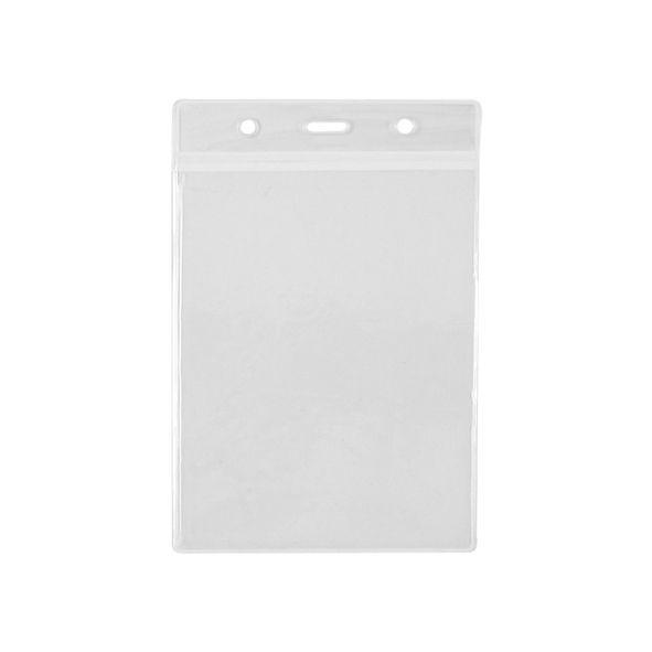 COD.LI023 Porta-Credencial Grande de PVC Clear, para Credenciales de 9.2 x 13.2 cm. Visibilidad por ambos lados. Presentación Vertical.