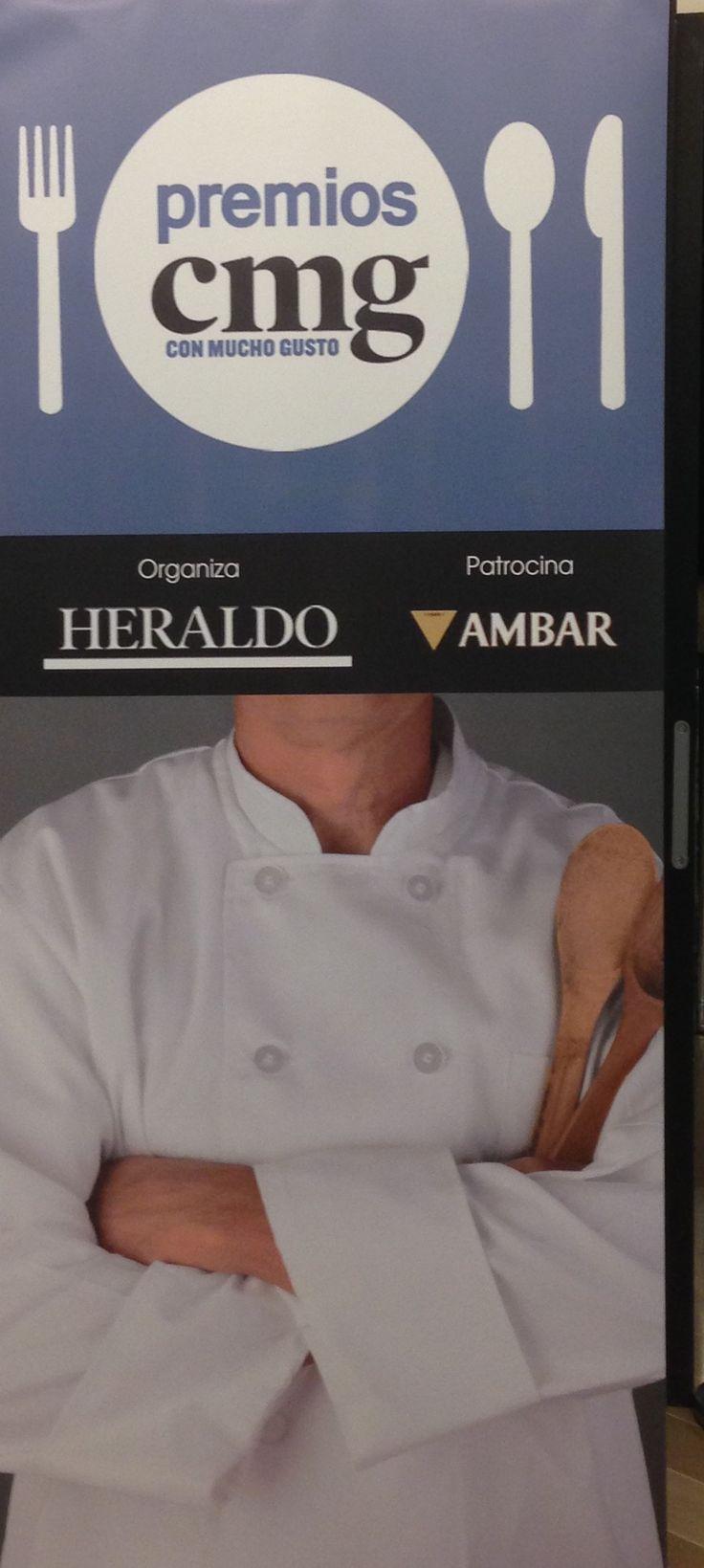 """Hoy tenemos el placer de albergar en el Auditorio Condes de Barcelona del Hotel Reina Petronila los """"Premios Con Mucho Gusto"""", donde se premiará al mundo de la hostelería, gastronomía y cocina de Aragón :)"""
