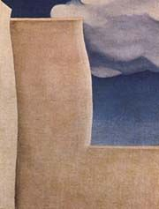 """Georgia O'Keeffe - """"Fragment of the  Ranchos de Taos Church"""" painting. Recommended by Andrea Beaty, author of Artist Ted."""