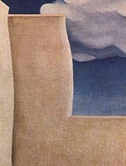 """O'Keeffe - """"1929 Fragment of the  Ranchos de Taos Church"""""""