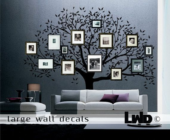 family tree decal large wall decor home decor by largewalldecals 24000 - Large Home Decor