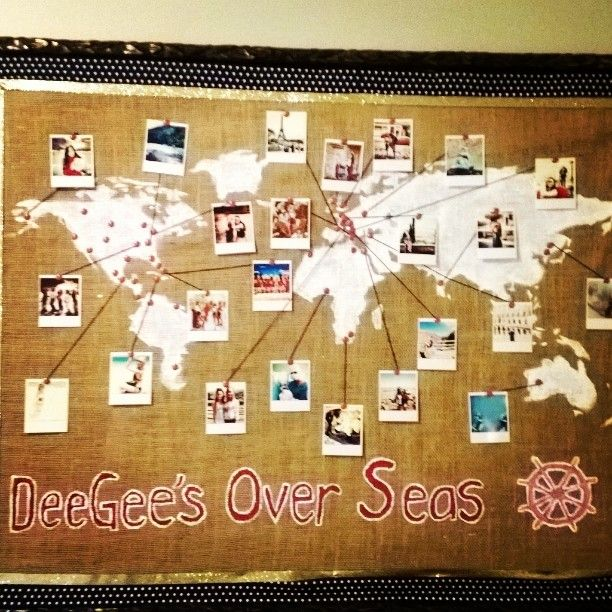 Great idea to show where sisters are studying abroad! Courtesy of Gamma Mu-Florida State!