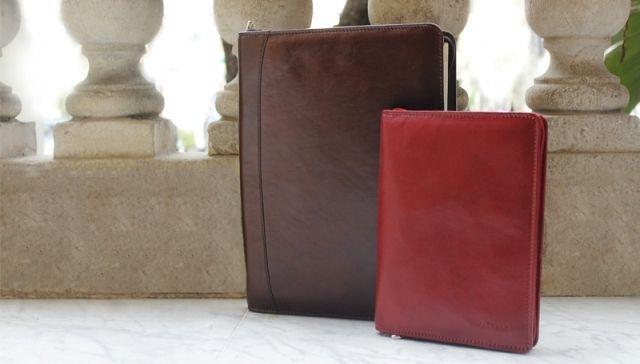 Portablocco A4 e porta ricettario linea Artic - #leather #accessories #work