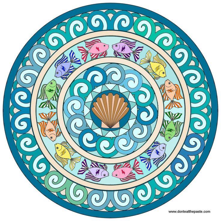 salmon mandala coloring pages - photo#15