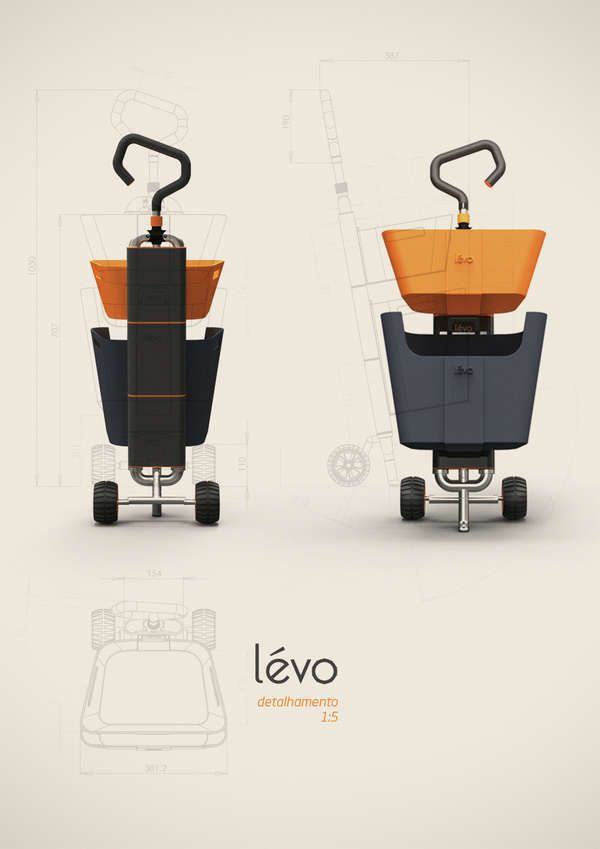 Basket-Toting Trolleys : Levo Shopping Cart