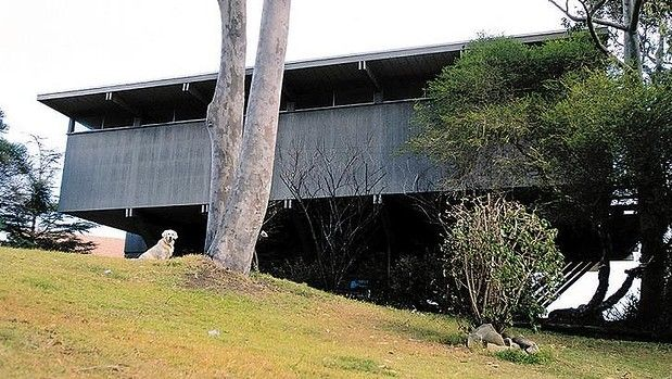 The Port Hacking house designed by Robin Boyd, built in 1967.