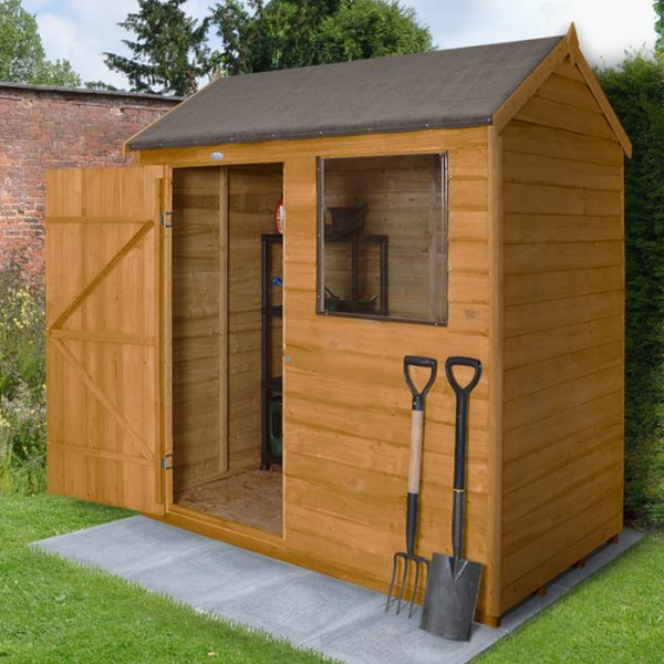 Hartwood 6' x 4' Overlap Reverse Apex Shed - Cheap Sheds - Sheds
