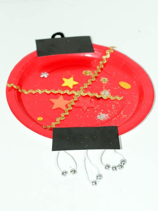 Paper Plate Chinese Lantern Craft for Chinese New Year - In The Playroom
