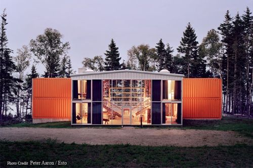 House of shipping containers
