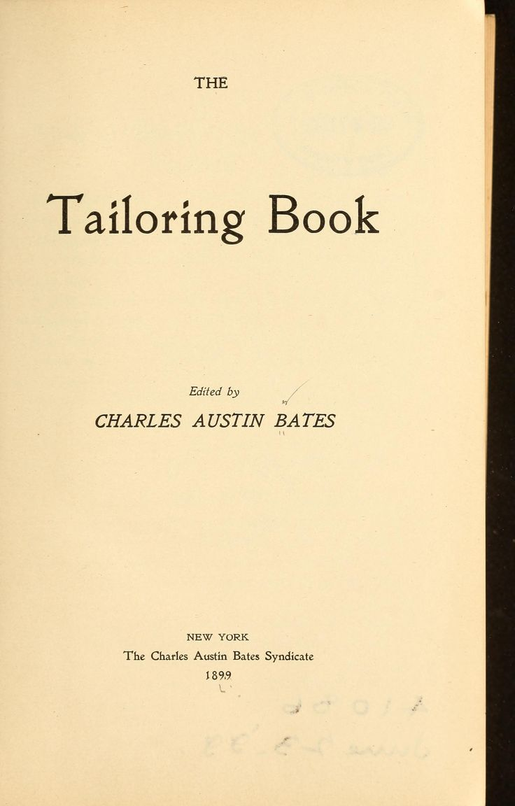 The tailoring book