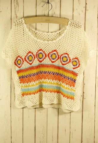 Hand Knit Bohemian Crochet Crop Top- I want thissss #Chicwish