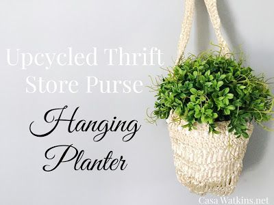 Upcycle thrift store purses and your old pocketbooks into a hanging planter!