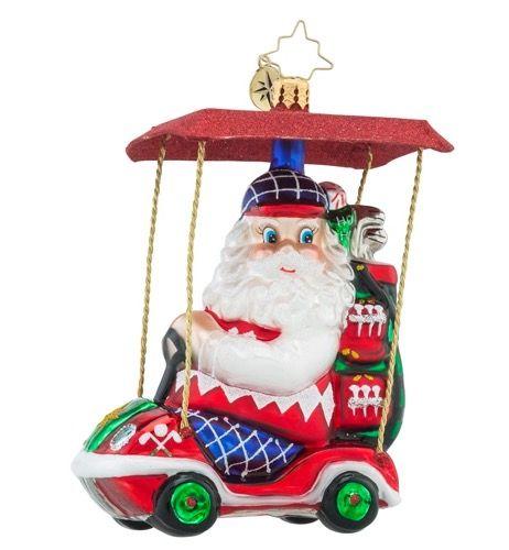"""Senior Tour Santa Golf"" by Christopher Radko Ornaments"