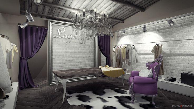Дизайн студия разработала интерьер бутика и несколько вариантов входной группы