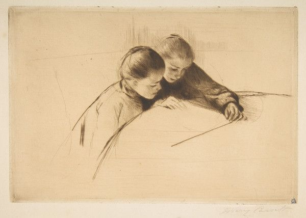 The Map by Mary Cassatt | Art Posters & Prints