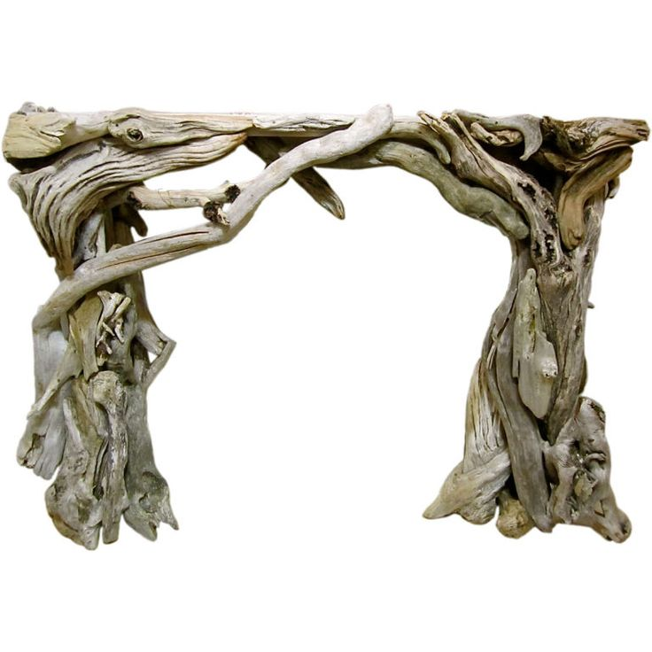 Poetic Driftwood Mantle | From a unique collection of antique and modern fireplace tools and chimney pots at https://www.1stdibs.com/furniture/building-garden/fireplace-tools-chimney-pots/
